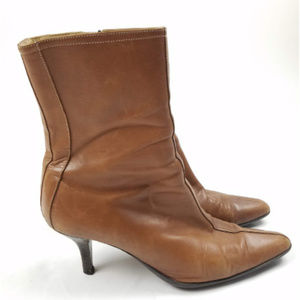 Coach Jeanne Mid Calf Leather Boots
